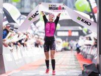 I 2017 kunne danske Michelle Vesterby lade sig hylde som vinder af KMD IRONMAN Copenhagen. Foto: Getty Image for IRONMAN.com