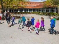 Grydemoseskolen skolegaard, foto: Helsingør kommune