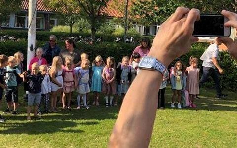 Første skoledag 2019, foto: Helsingør kommune